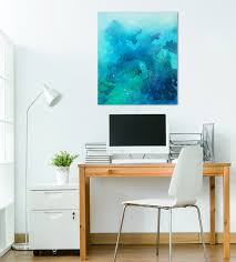 home office art. blue home office art