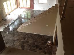 Living Room Tile Floor Tile Floor Gallery Custom Installations Inc