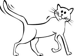 black and white cat clipart. Cartoon Cat Black White Line Art Tatoo Tattoo SVG Clipart Library And