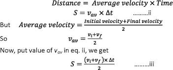by eliminating t from this equation and the first equation of motion we can drive third equation of motion