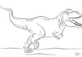 T Rex Coloring Page - creativemove.me