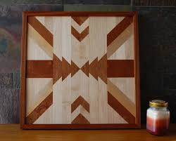 Native American Home Decor Native American Geometric Design Wood Wall Art Navajo Tribal