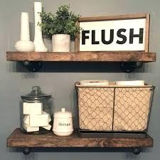 bathroom wall shelves flush sign custom home decor farmhouse style rustic ideas