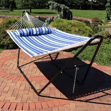 two person hammock with stand. Brielle Quilted Double Fabric Hammock With Stand On Two Person