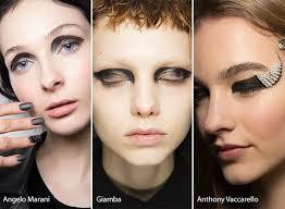 fall winter 2016 2017 makeup beauty trends graphic black eye makeup