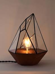 geometric table lamps geometric multi face table lamp geometric gold stone base table lamp
