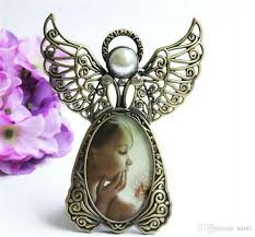 new arts metal vintage mini picture frames lovely angel style classic picture photo frame for home decor and gifts canada 2019 from santi