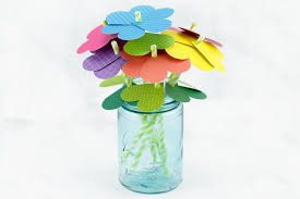 Easy Paper Flower How To Make Simple Paper Heart Flowers Fireflies And Mud Pies