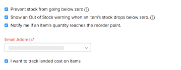 Stock Number Preferences User Guide Zoho Inventory