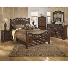 wood queen bedroom sets. Plain Wood Signature Design By Ashley Bedroom Leahlyn 6piece Queen Set B526 Intended Wood Sets O