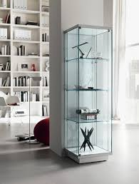 scenic at with teak glass display cabinet