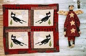 Mini Cat Quilt Pattern EPattern Black Cat Angel Doll PDF Wall &  Adamdwight.com