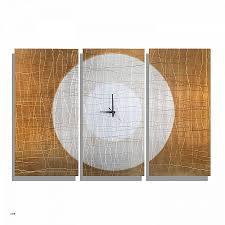 gold abstract metal wall clock handcrafted functional art etched modern metal wall clock warm embrace
