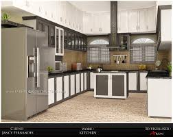 Small Picture Island kitchen design for kerala home Decor Et Moi