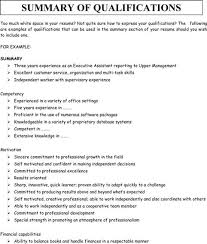 resume summary of qualifications examples accountingresume qualifications for a resume examples