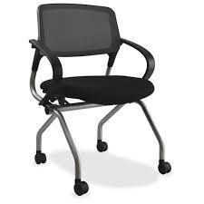 lorell mesh back training chair plywood foam fabric seat mesh fabric back plastic metal frame black