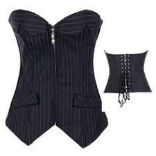 This <b>Black Pinstripe Strapless Corset</b> - Plus Too is perfect ...