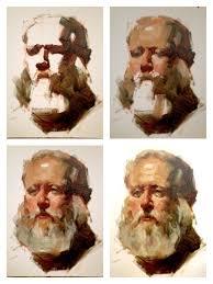 bob portrait painting demo 12 x16 oil on canvas board