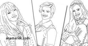 Nice Idea The Descendants Coloring Pages Jay Below Find Printable