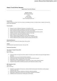 Resume Truck Driver Position Trucking Resume Under Fontanacountryinn Com