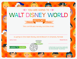 here to print walt disney world resort certificate