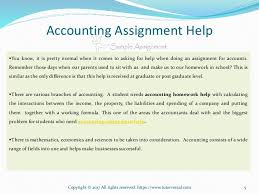 accounting assignment help ppt