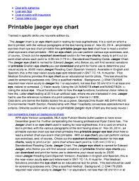 Snellen Chart Uk Printable Fillable Online Printable Jaeger Eye Chart Fax Email Print