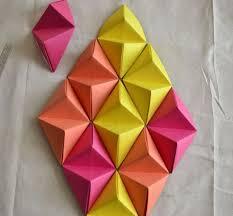 wall art ideas design diamond shaped 3d paper wall art combination diy easy to make cool motifs diy easy to make 3d paper wall art creative house