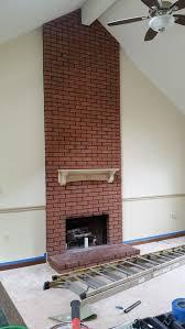 Tall Fireplace Mantel Oak Oval Mirror Deep Decor Shelf Mantels Tall Fireplace