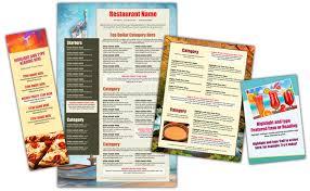 Make A Menu For A Restaurant Easy Menu Design Online Menu Templates From The Menu Maker