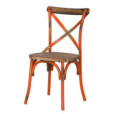 distressed metal furniture. Distressed Metal Chair With Cross Back Designed Furniture D