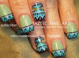 aztec nails, aztec nail art, aztec designs, mayan nail ...