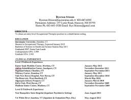occupational therapy resume com occupational therapy resume 19 sample occupational therapy resume family therapist template essay sample providing