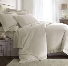 Q-DIAMENTE Darcy Hemstitch Tencel Cotton Sheet Set Color :Ivory