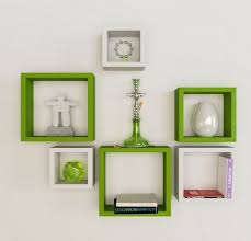 White Square Floating Shelves Inspiration Green And White Square Shape Wall Shelf Set At Rs 32 Piece