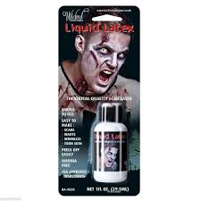 details about liquid latex special effects zombie flesh scars skin adhesive halloween make up