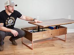 how to build a lift top coffee table