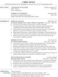 Investment Banker Resume Interesting Investment Banking Resume Example Investment Banker Resume Template