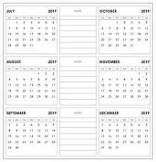 printable 6 month calendar 2019 2018 weekly calendar template excel printable templates try