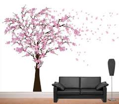 cherry blossom wall art stickers