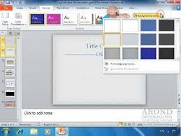 Using Powerpoint 2010 Apply A Texture Or Picture Background Youtube