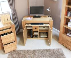 baumhaus mobel solid oak fully. Baumhaus Mobel Solid Oak Hidden Home Office. Hideaway Desk Computer Of With Fully