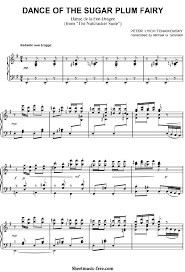 dance of the sugar plum fairy sheet music dance of the sugar plum fairy sheet music tchaikovsky piano sheet