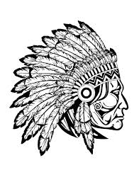 Coloring Pages Coloring Adult Indian Native Chief Profile Jpg In