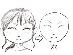 似顔絵画家が教える顔のイラストの輪郭の描き方男女共通初心者はまず