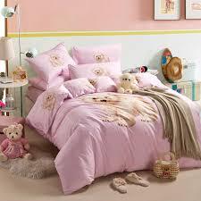little bear pink cartoon bedding kids bedding girls bedding teen bedding