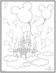 Disney Magic Kingdom Coloring Pages Places To Visit Pinterest