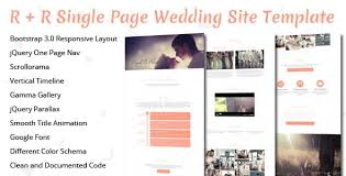 One Page Website Template Enchanting RR Wedding Landing Page Template Template Ecommerce Logo And