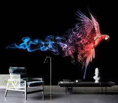 Custom Fog Designs Us 11 89 37 Off Bacal Custom Photo Wallpaper Modern 3d Wall Mural Abstract Red Smoke Fog Art Design Bedroom Office Living Room Wall Paper 5d In