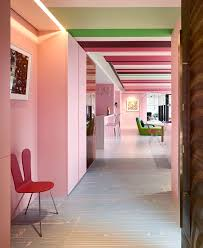 Contemporary Apartment Adorned With Colorful Dots And Stripes Stunning Apartment Designer Collection